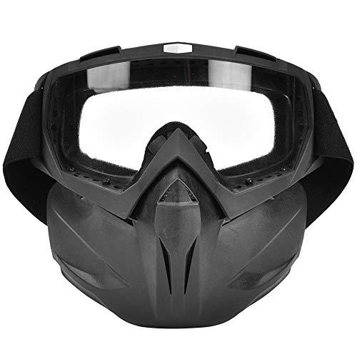 Casco Gafas Al Aire Libre A Prueba De Viento Anti-Niebla Casco De Motocicleta Gafas De La Cara De Las Gafas De Carreras (Lente Transparente)