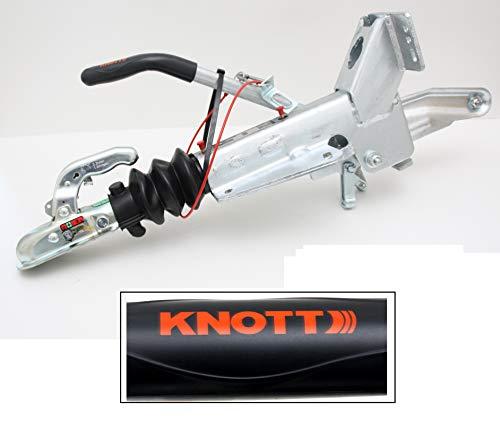 p4U Original Knott KF20 A 1100-2000kg Auflaufeinrichtung Auflaufbremse mit Stützradkonsole 202410.003 202410003 V-Deichsel Trailer Anhänger