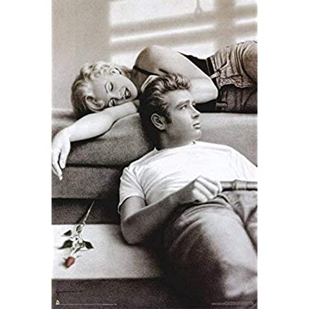 James Dean /& Marilyn Monroe on Motorcycle Laminated Poster 24.5 x 36.5 inches