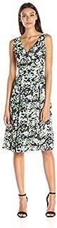 Anne Klein Women's Printed CDC Double Pleat Midi Dress