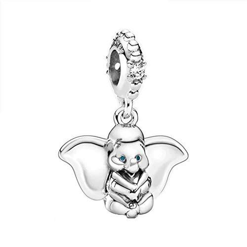 Desconocido JCaleydo - Dumbo Elefante, in argento Sterling 925, con scatola regalo, compatibile con bracciale Pandora