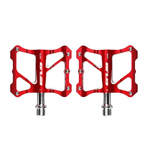 XGLIPQ Accesorios universales para Bicicletas Pedales de Bicicleta, Pedales de Bloqueo de montaña, Rodamientos sellados Antideslizantes de aleación de Aluminio, Accesorios para Montar para la mayoría