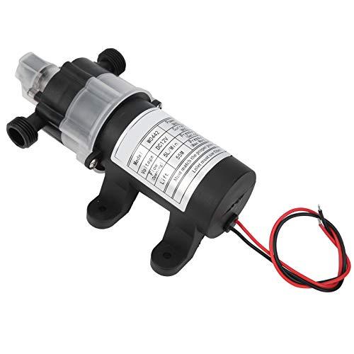 PUSOKEI Mikromembran-Wasserpumpe, selbstansaugende Gleichstrompumpe W0442YD 12V 60W, mit lautlosem Druckschalter, zum Wasserpumpen, Schweißen von Schweißbrennern, Reinigen, Sprühen