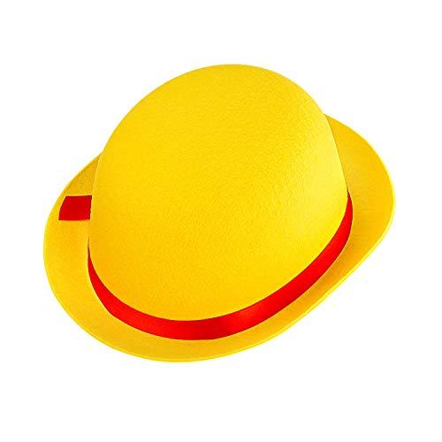 Widmann 32632 - Clown-Hut, für Kinder, gelb-rot, Melone aus Filz, Hut, Mütze, Kostüm, Karneval, Mottoparty