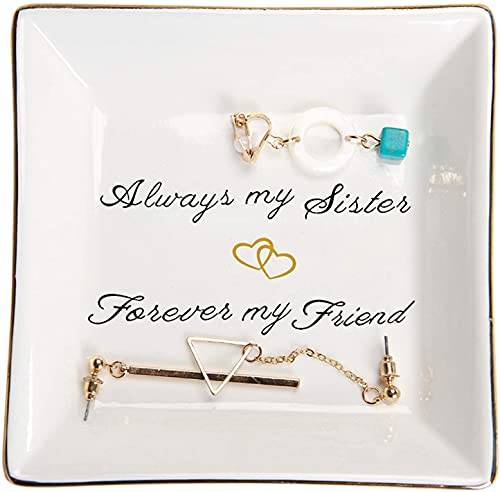 Sister Birthday Gifts Trinket Dish -Always My Sister,Forever My...