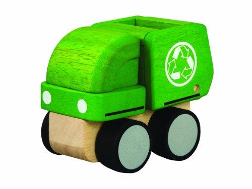 PlanToys - PT6319 - Jouet en bois - Véhicule - Camion Recyclage