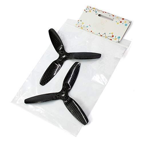 Accessori per droni Elica 1 Coppia 5042 Principale 3- Rotore dell' elica Fibra di carbonio Cw Ccw Puntelli per Parrot Bebop Drone 3. 0 Pezzi di ricambio Accessori per droni RC (Colore:Nero)(Colore:Ne
