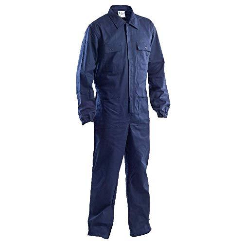 P&P Tuta Blu da Lavoro con Elastico ai Polsi - 100% Cotone Massaua - per Elettricisti/Meccanici/Scuole Tecniche ECC. (M)