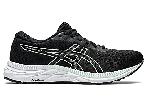 ASICS Women's Gel-Excite 7 Running Shoes, 8M, Black/BIO Mint