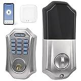 Smart Lock, Keyless Entry Door Lock with Keypad, Smart Lock Front Door, Compatible with Alexa, Bluetooth & Wi-Fi Smart Lock Deadbolt, Digital Smart Door Lock, IP65 Weatherproof
