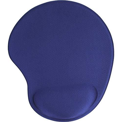 InLine 55453B muismat met gel polssteun (230x205x20 mm) blauw