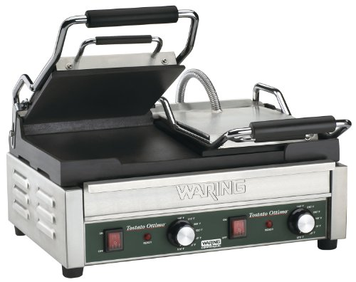 Waring Commercial WFG300 Panini Grill, 23.25x19.25x13.75, Silver
