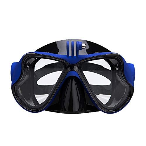 WJQ Taucherbrille Free Schnorchel Maske HD Vision dichter undurchlässiger Sitz Starke professionelle Drainage Atmung glatt Sicherheit gut 120 Grad Weitwinkel große Sicht