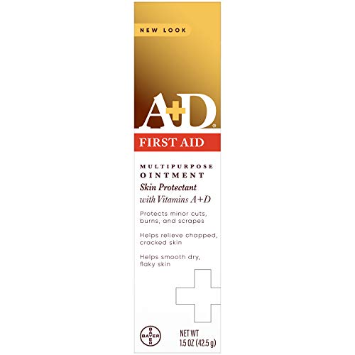 A+D First Aid Ointment - Moisturizing Skin Protectant for Dry Cracked Hands, Elbows, heals and lips - Use After Hand Washing – 1.5 oz Tube, Packaging May Vary
