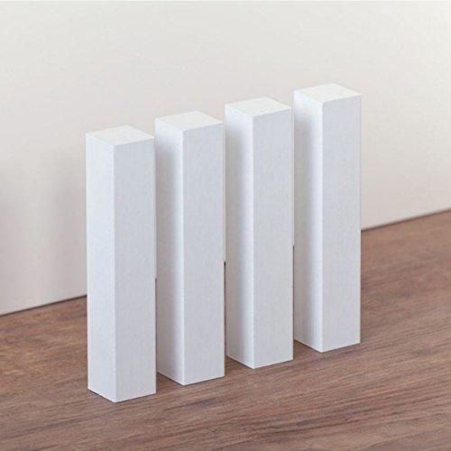 Universal Holzecken 15 x 15 x 112 Innen / Außen für Sockelleisten, Buche massiv, weiß lackiert