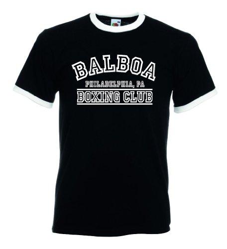 Fruit of the Loom Italia/Italien Herren T-Shirt Retro Balboa Boxing Club|L