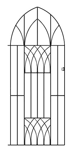 Abbey Modern Tall Bow Garden Gates 914mm GAP x 1950mm High wrought iron metal pedestrian entrance...