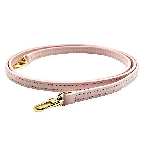 iSpchen Sangle de sac en Cuir véritable Remplacement Sangle pour Poignées bandouliè Sacs à Main épaule Sac Boucles DIY,rose