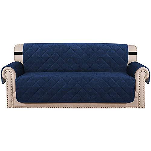 Funda de sofá de terciopelo, funda acolchada de terciopelo grueso, funda de sofá para cojín y sofá, funda protectora de mascotas (azul, sofá de 3 plazas)