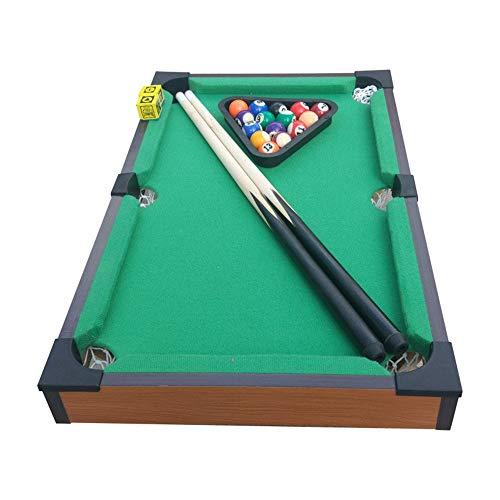 Pieghevole Biliardo Snooker For Adulti Bambini Desktop Miniature Pool Table Set tavolo da gioco da tavolo Toy giocattolo in miniatura da biliardo con Mini Pool Balls Cue Sticks Accessori Giocattolo da