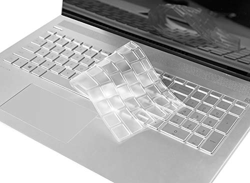 Clear Keyboard Cover Fit HP Envy x360 15.6/HP Pavilion 15 2019 2018/HP Pavilion x360 15.6/HP Envy 17 Series/HP Laptop 15.6 inch Series/HP Laptop 17.3 inch TPU Keyboard Cover Skin