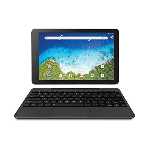 "Newest Premium High Performance RCA Viking Pro 10.1"" 2-in-1 Touchscreen Laptop Computer Tablet Quad-Core 1G Memory 32GB Hard Drive Detachable-Keyboard Android 8.1"