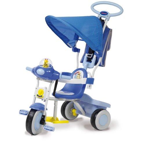 Biemme 1497CL - Triciclo Baby Plus, 96x44x95 cm, Celeste