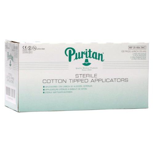 Puritan 6' Sterile Standard Cotton Swab w/Wooden Handle - 25-806 2WC - 2 per pkg - Box of 200
