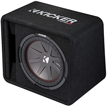 "Kicker 43VCWR122 12"" CompR Sub 2 Ohm Loaded Subwoofer Sub Box Enclosure (Renewed)"
