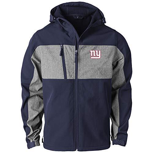 Dunbrooke Apparel NFL New York Giants Zephyr Herren Softshelljacke, Marineblau/Grau, 5XL