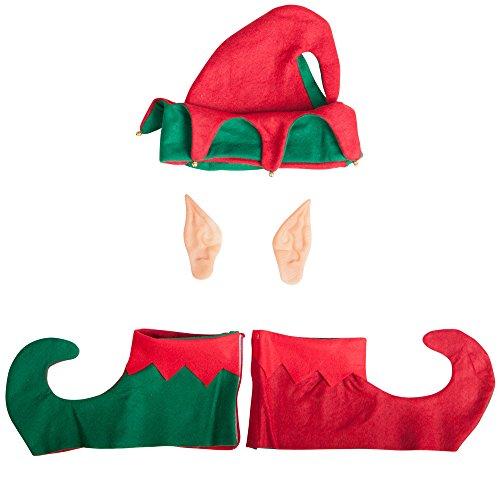 Carnival Toys 9702 - Elfen-Set, Hut, Ohren und Überschuhe
