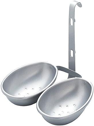 Preisvergleich für KitchenCraft KCDBEGGPSIL Antihaft-Eiereinsatz zum Einhängen, Eierbecher, Silber lackiert, Karbonstahl, silber, 13 x 10 x 14 cm