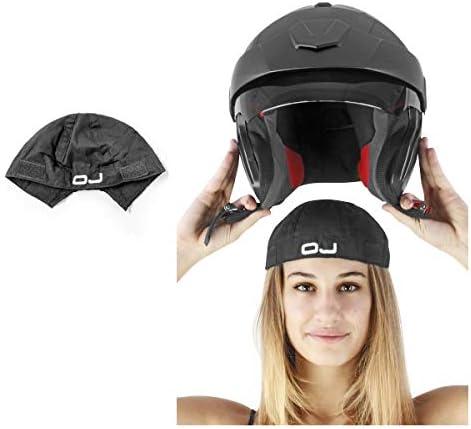 F011 2 stuks ademende buitenschaal van katoen zwart OJ compatibel met helm CGM