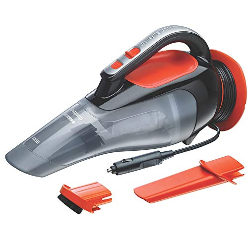 BLACK+DECKER ADV1210 12V Powerful Dustbuster Automatic Car Vacuum Cleaner with 4 Accessories (Black and Orange)