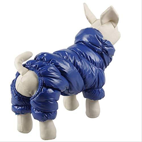 XYBB hondenkleding voor honden, voor huisdieren, jumpsuit, warm, Big Dog Track, XXL, Blauw
