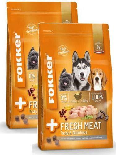 2x 13 KG Fokker premium + fresh meat hondenvoer