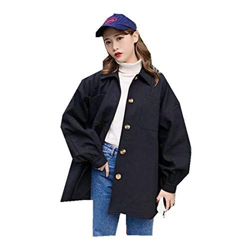 MV Spring Autumn Korean Harajuku Bf Loose Wild Tooling Cool Handsome Short Jacket Black
