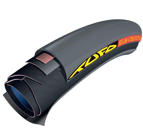 Tufo S3 Lite Tubular, 215 g, Unisex, Negro, 700 x 21 mm