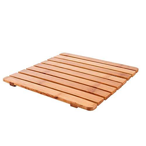 Coseyil Isolation Pad Set de Table en Bambou Isolation épaisse carré Pots de Cuisine Couverts Pot Anti-scalding Tapis de Bol Set de Table 18 cm/22 cm, Bois, 22 cm