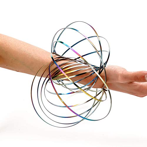 CC-decompression Toy 2019 - Kinetic Spiral Spring Arm 3D Ring Swirls And Flow On Any Object - Helps Kids Childrens And Adults With Adhd Fidget - Ultimate Prank Joke Toy - By Guilty Gadgets