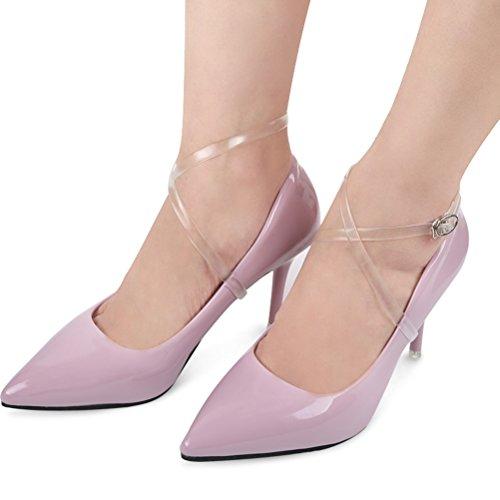 ULTNICE Transparente Schuhband Schuhriemen mit Schnalle für High Heels hochhackigen Schuhen Anti-lose