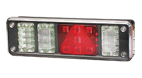 HELLA 2VP 340 960-271 Heckleuchte - LED - 24V - rechteckig - Anbau - Stecker: DIN-Bajonett 1 x 7/Superseal 4 x 2 - Stecker: AMP/Male - 7/8-polig - links