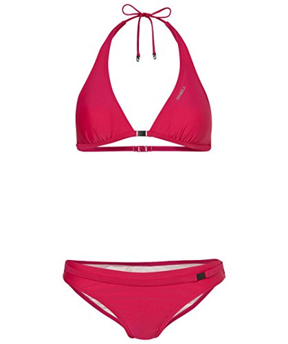 O'Neill Damen Bikini PW Solid Halter BCD, Pink Martini, 42C, 408452