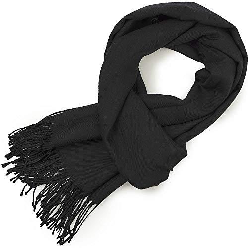 HAND-PRO Pañuelo cuello hombre Fular Hombre bufandas pashmina Hombre pashmina negra bufanda cuello mujer Bufanda negra hombre fulares mujer invierno