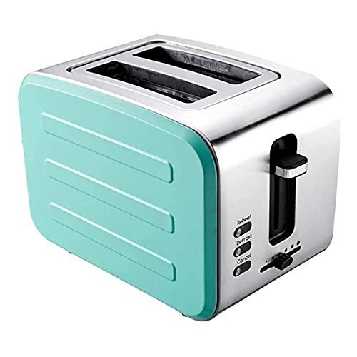 ZHBH Tostadoras Máquina de Desayuno para el hogar Sandwichera 6 configuraciones de Dorado Cancelar/recalentar/descongelar Bandeja de extracción de Migas de Gran elevación (Color: C)