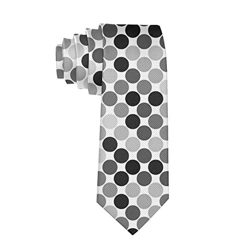 Paedto Corbatas de Hombre, Corbatas de Moda de Novedad para Hombres Corbata Delgada para Caballeros, Lazos de Moda para Negocios Formales Informales (Lunares qu74)-8x145cm