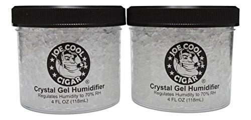 Joe Cool Cigar Crystal Gel Humidifier for Cigar Humidors (4 oz Jars) - 2 Pack