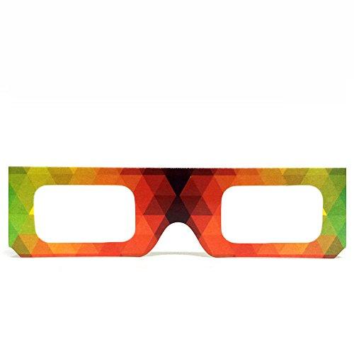 GloFX Papier, Pappe, Beugungs Brillen- geometrische Regenbogen (10 Stück)