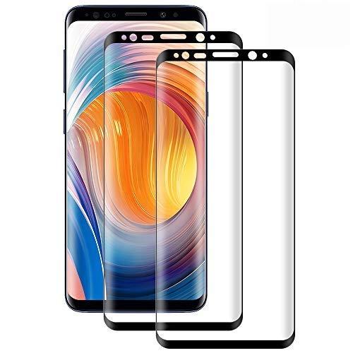 DOSMUNG [2 Pezzi Vetro Temperato per Samsung Galaxy S8 Plus,Pellicola Protettiva Vetro per Samsung S8 Plus 9H Durezza/3D Curvo Copertura Completa/Ultra HD/Anti-Graffi Galaxy S8 Plus Tempered Film