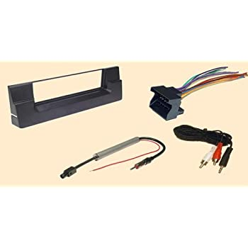 amazon.com: carxtc complete aftermarket stereo wire and installation kit  fits bmw 5 (540i) series 01-2002 and x5 (2001-2006) stereo wiring harness,  dash install kit faceplate, with fm antenna adaptor: car electronics  amazon.com